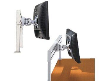 Support écran plat design 2 articulations - fixation rail - aluminium