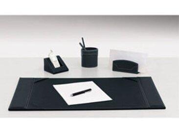 Corbeille à papier gamme Elyane - simili cuir noir