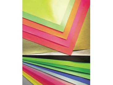 Paquet de 25 feuilles affiche couleur 75g 60x80 cm Rouge Ecole