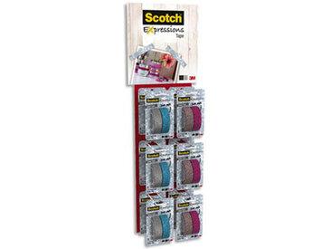 Rubans masking tape Scotch Expression - Mini-mobile de 24 - lot de 2 - pailleté