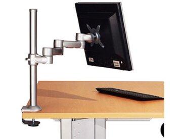Supports écran 4 articulations Finition gris aluminium - fixation plateau