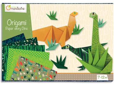 Origami Paper - Dino - imprimé 2 faces avec 1 planche de stickers yeux - 60 feuilles - 20x20 cm