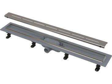 Caniveau de douche avec grille en acier 550 perforée (CPZ18-550M)