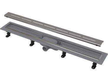 Caniveau de douche avec grille en acier 750 perforée (CPZ18-750M)