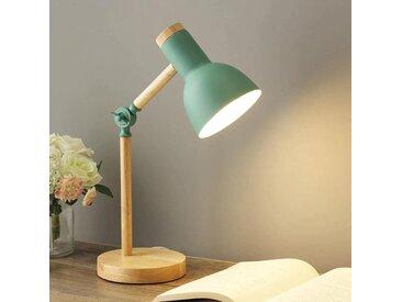 Navia - Lampe de chevet scandinave, en bois et aluminium