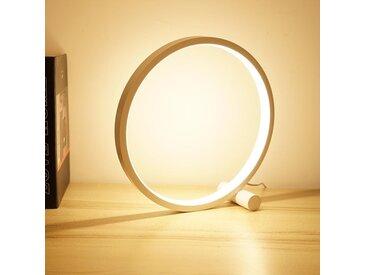 Cerca, lampe de chevet circulaire tactile à LED, en aluminium