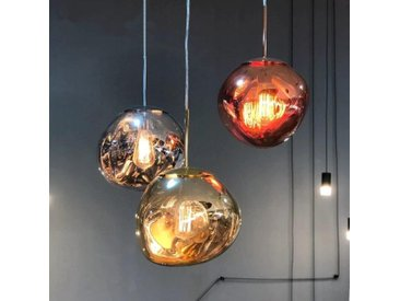Lava - Suspensions luminaires, en verre teinté fumé