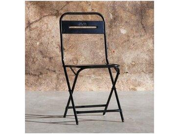 Chaise pliante Steel en métal noir