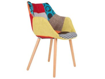 TWELVE - Chaise tissu Patchwork
