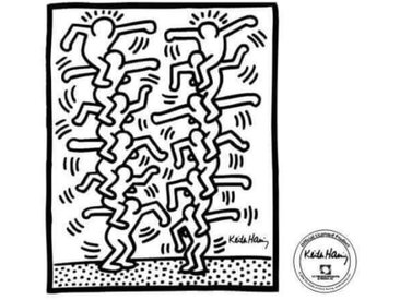 """Sticker """"Two stack of figures"""" de Keith Haring"""