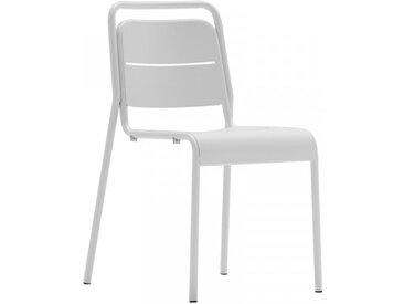 MALAGA - Chaise de terrasse blanche