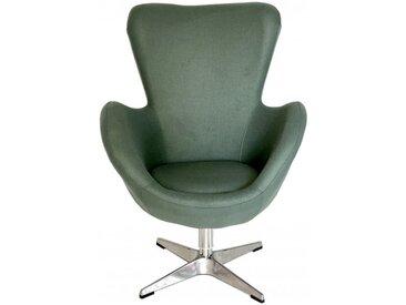 COCOON - Fauteuil design en tissu gris/vert