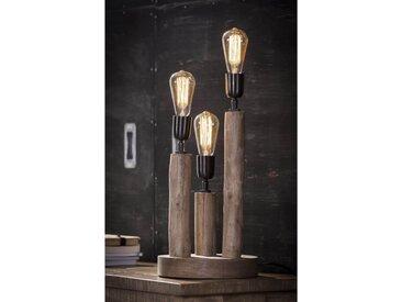 Lampe en bois Eucalyptus
