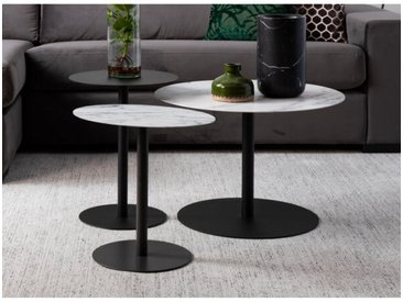 Set de 3 tables en metal Snow