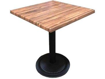 OAKLAND - Table carrée bistro marron