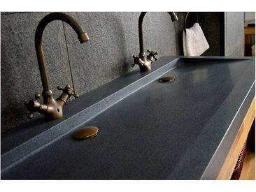 Living ROC Double vasque en pierre à poser 120x50 Granit YATE