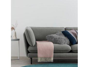Burley, plaid en laine 125 x 170 cm, rose poudré