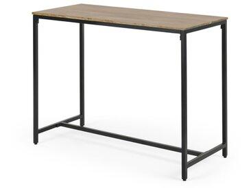 Lomond, table haute/bar, bois de manguier et métal noir