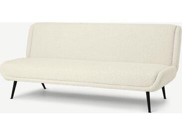 Moby, canapé convertible clic-clac, peau de mouton synthétique
