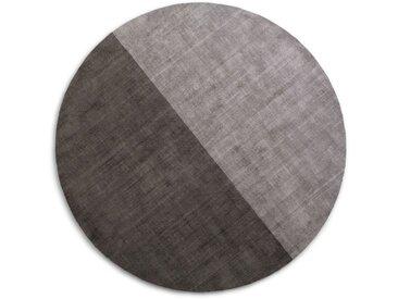 Jago, tapis rond diamètre 200 cm, gris