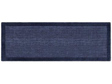 Jago, tapis de couloir 70 x 200 cm, bleu d'encre