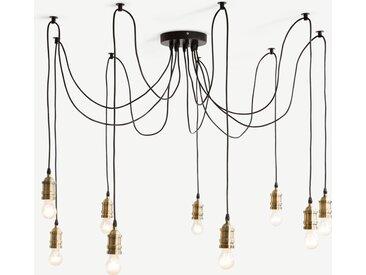 Starkey, lustre 9 ampoules, laiton