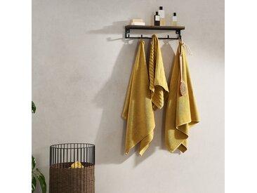 Alto, lot de 4 serviettes de bain, jaune ocre