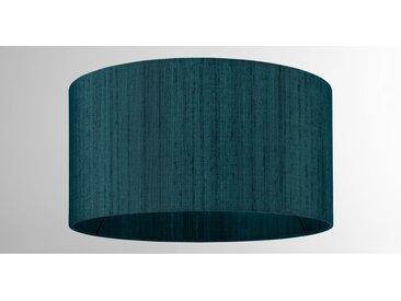 Idris, abat-jour en soie 30 x 16 cm, bleu canard