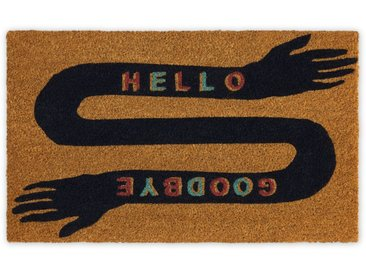 Hello Goodbye, paillasson 45 x 75 cm, mains multicolore