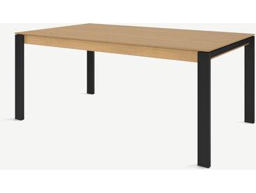 Corinna, table 8 personnes, chêne et noir