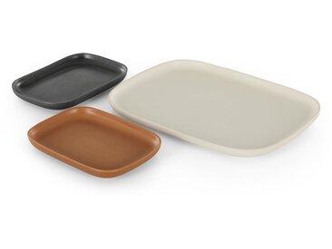 Ingram, un plateau de service à 3 compartiments, multicolore
