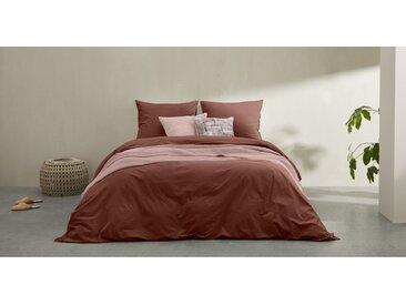 Alexia linge de lit 100% coton délavé, double (200 x 200), rose foncé