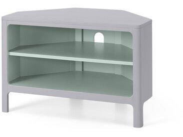 Bromley, meuble TV d'angle, gris et menthe