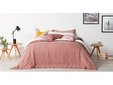 Boxton, couvre-lit 225 x 220 cm 100 % coton délavé, rose