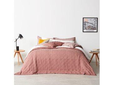 Boxton, couvre-lit (225 x 220) 100 % coton délavé, rose