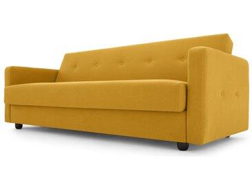 Chou, canapé clic-clac avec compartiment de rangement, bouton d'or