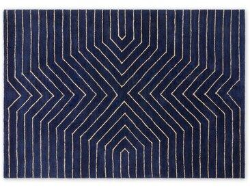 Moldan, grand tapis doux 160 x 230 cm, bleu foncé