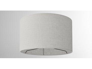 Porto, abat-jour en lin 40 x 24 cm, gris