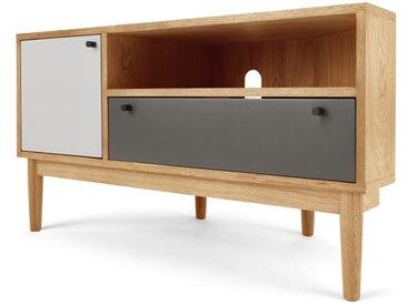 Campton, meuble TV d'angle, chêne