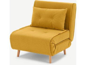 Haru, fauteuil convertible, jaune beurre