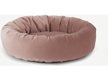 Kysler, lit rond pour animal de compagnie Large, velours rose