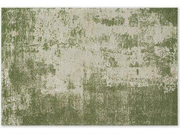 Genna, très grand tapis en coton motif jacquard 200 x 300 cm, vert