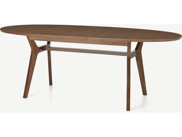 Jenson, table ovale à rallonges 6 à 8 personnes, chêne teinté