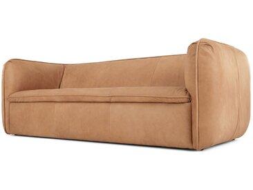 Berko, canapé 3 places, cuir brun