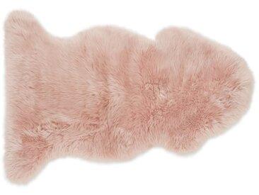 Helgar, peau de mouton 60 x 90 cm, rose poudré