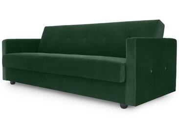 Chou, canapé convertible avec compartiment de rangement en velours, vert sapin