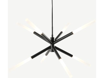 Wanda, lustre LED 8 ampoules, noir