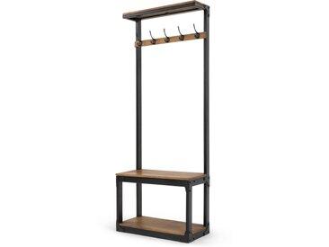Layne, meuble d'entrée, bois de manguier et acier noir