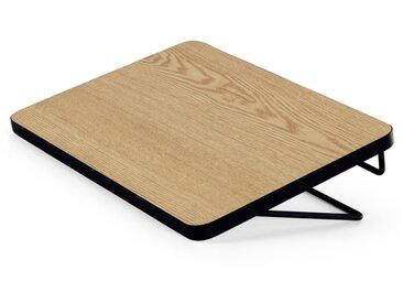 MADE Essentials - Besley table de chevet à suspendre, noyer et noir