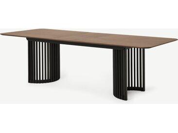 Zaragoza, table extensible 6 à 10 personnes, noyer et noir charbon